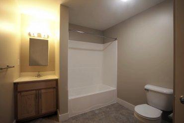 Bathroom in Studio apartment.