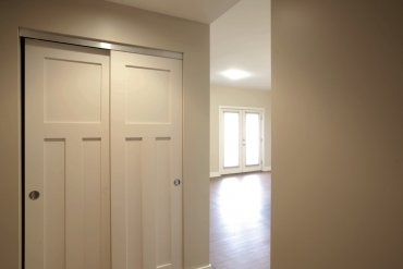 Entry to Two Bedroom apartment with large closet.