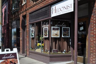 Hedonist Artisan Chocolates on South Avenue. (They have an ice cream shop next door, too!)