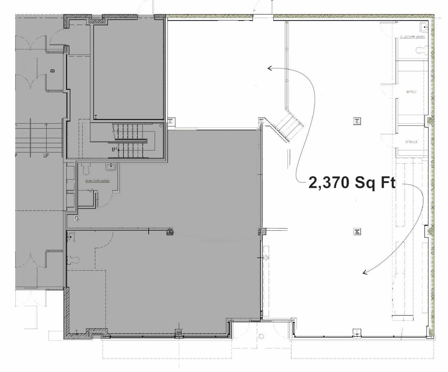 661 South Avenue commercial space floorplan