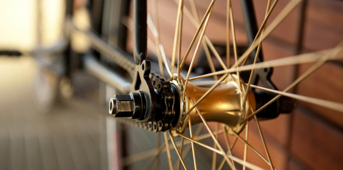 Close up of bicycle
