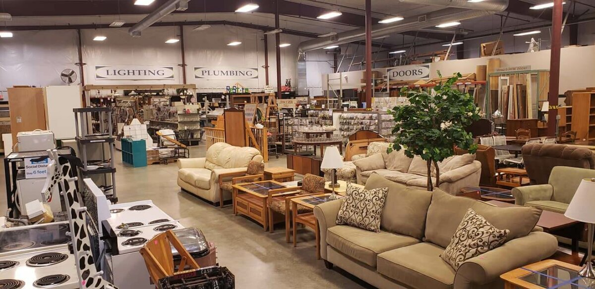 Furniture section of the Habitat ReStore