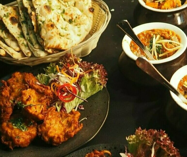 Photo of Indian food. Photo credit Chan Walrus