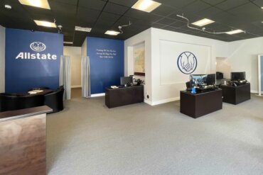 Interior of Allstate Insurance office on South Avenue