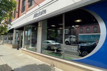Exterior of Allstate Insurance office on South Avenue